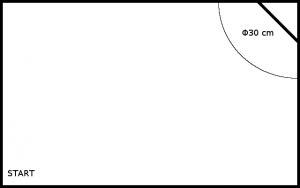 Soutěžní plocha pro soutěž Robot Sběrač